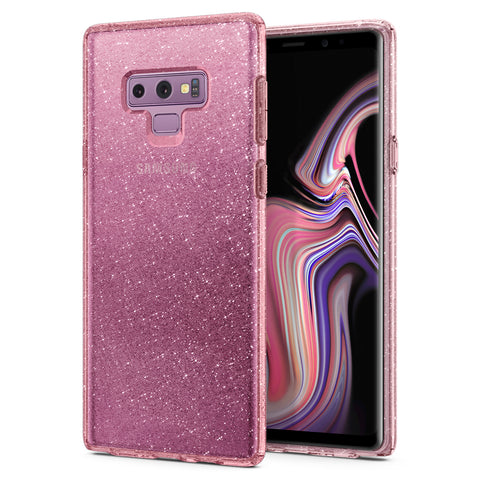 Spigen Galaxy Note 9 Case Liquid Crystal Glitter Rose Quartz 599CS24571