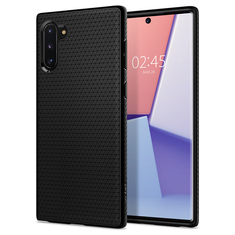 Spigen Galaxy Note 10 Case Liquid Air Matte Black 628CS27373