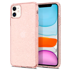 Spigen iPhone 11 Case Liquid Crystal Glitter Rose Quartz 076CS27182