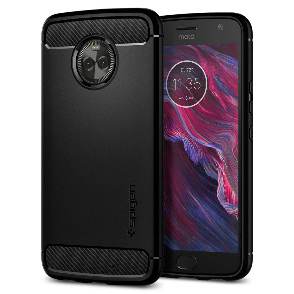 Spigen Moto X4 Case Rugged Armor Black M11CS22003