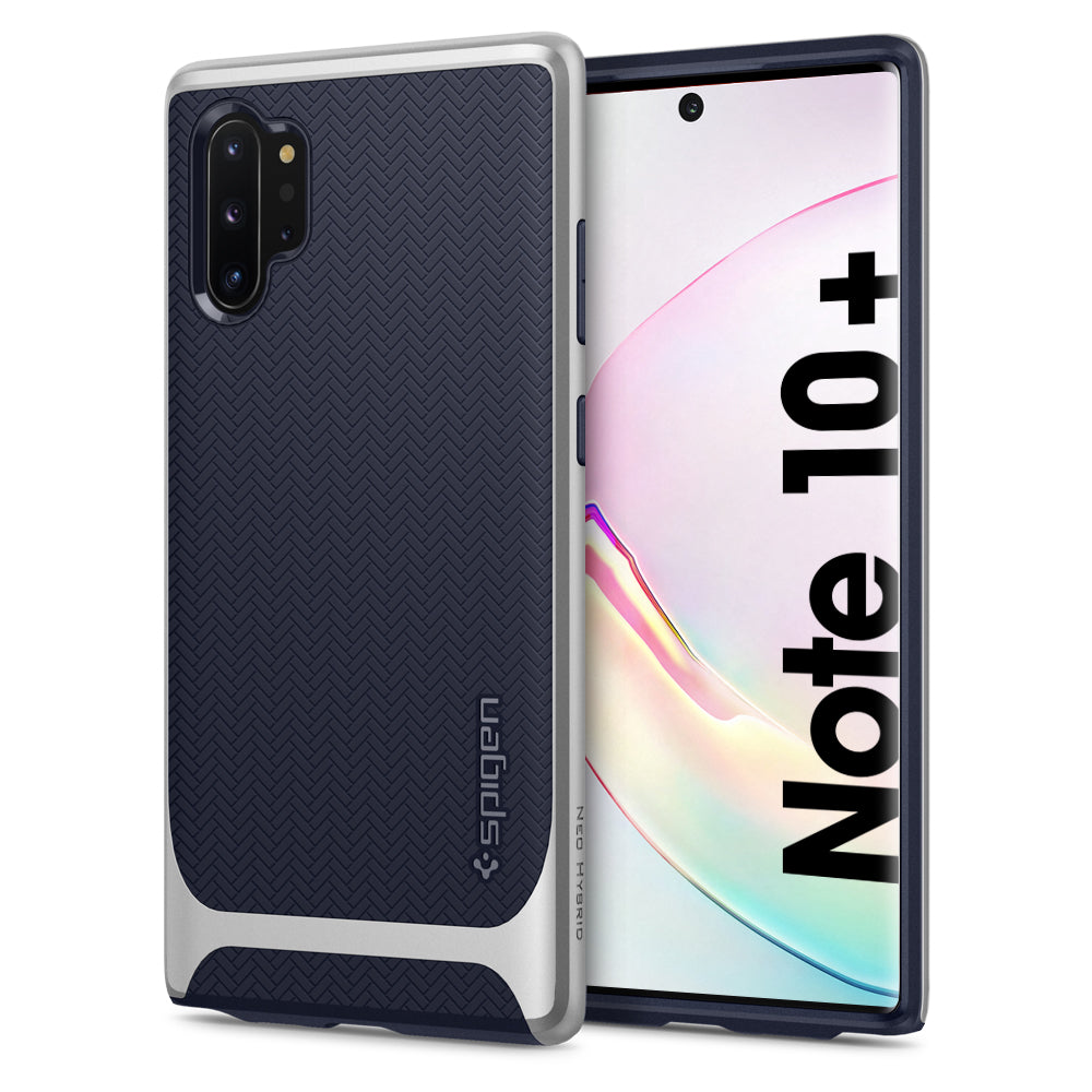 Spigen Galaxy Note 10 Plus Case Neo Hybrid Arctic Silver 627CS27341