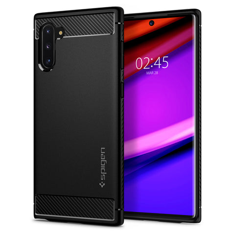 Spigen Galaxy Note 10 Case Rugged Armor Matte Black 628CS27374