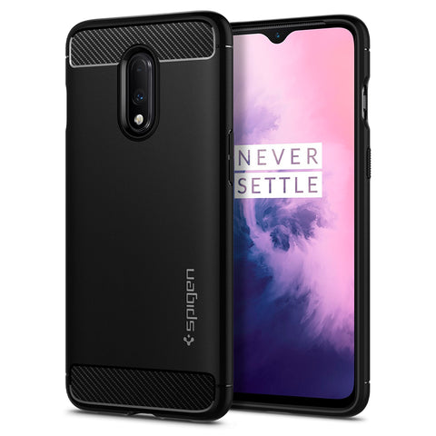 Spigen OnePlus 7 Case Rugged Armor Matte Black K08CS26240