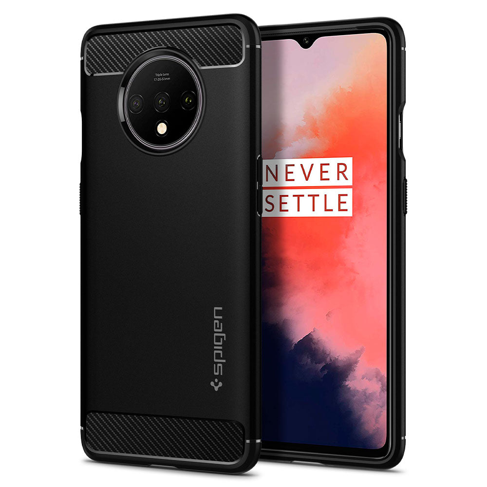 Spigen OnePlus 7T Case Rugged Armor Matte Black ACS00316