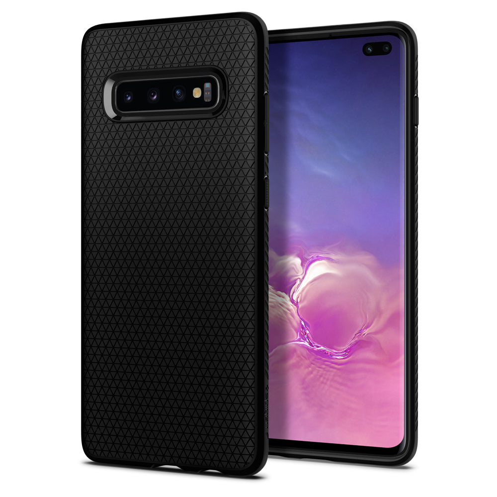 Spigen Galaxy S10+ Case Liquid Air Matte Black 606CS25764