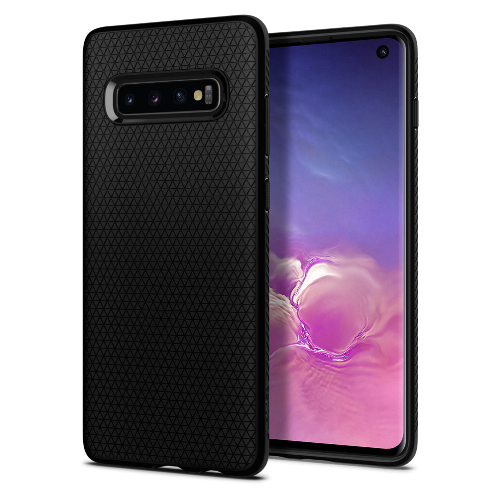 Spigen Galaxy S10 Case Liquid Air Matte Black 605CS25799