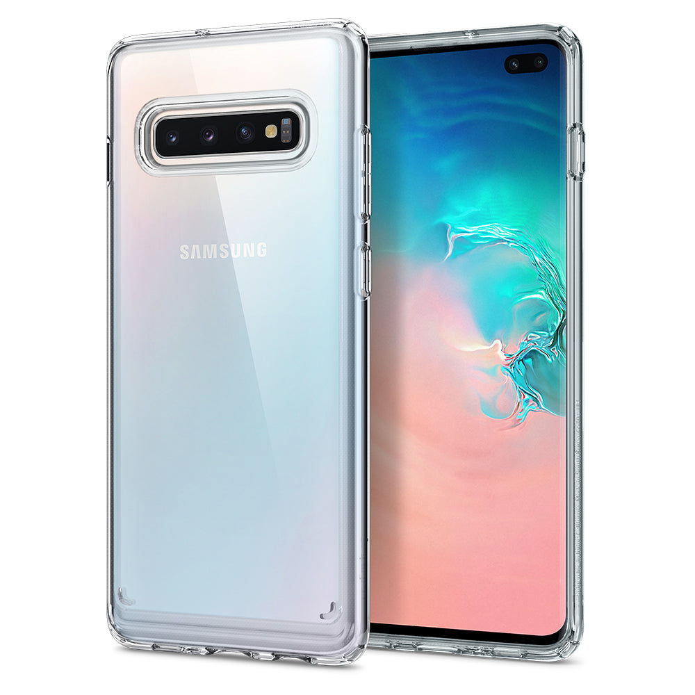 Spigen Galaxy S10+ Case Ultra Hybrid Crystal Clear 606CS25766