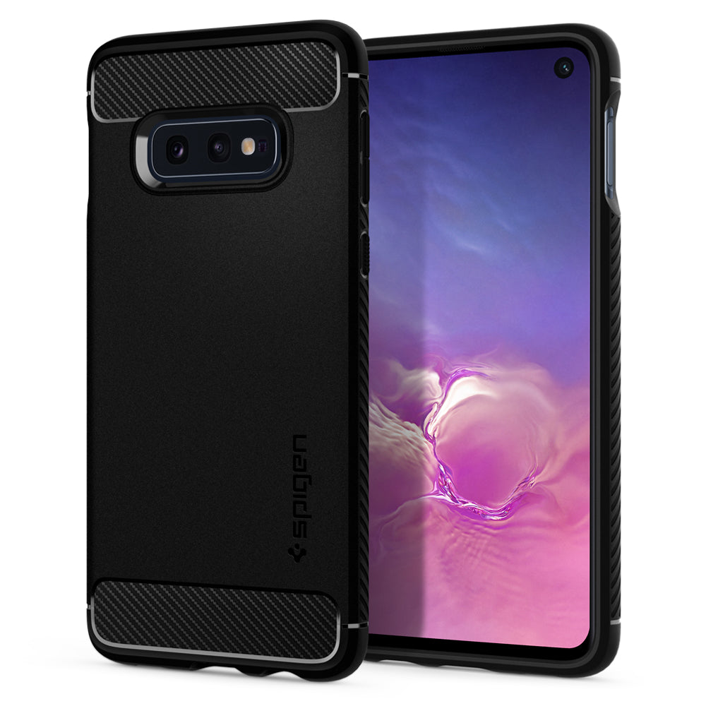 Spigen Galaxy S10e Case Rugged Armor Matte Black 609CS25837