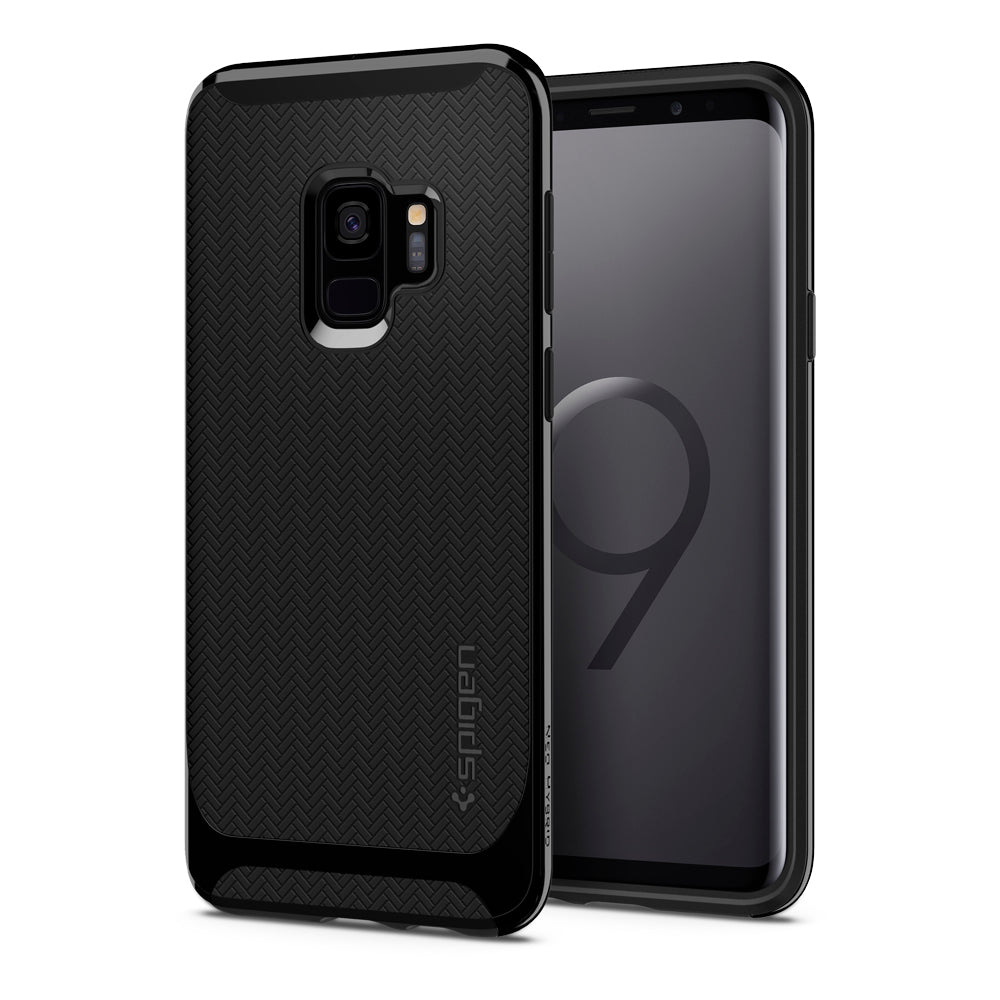 Spigen Galaxy S9 Case Neo Hybrid Shiny Black 592CS22855