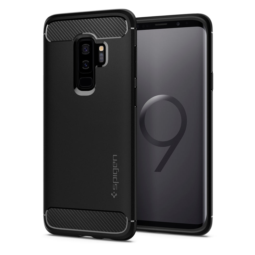 Spigen Galaxy S9 Plus Case Rugged Armor Matte Black 593CS22921