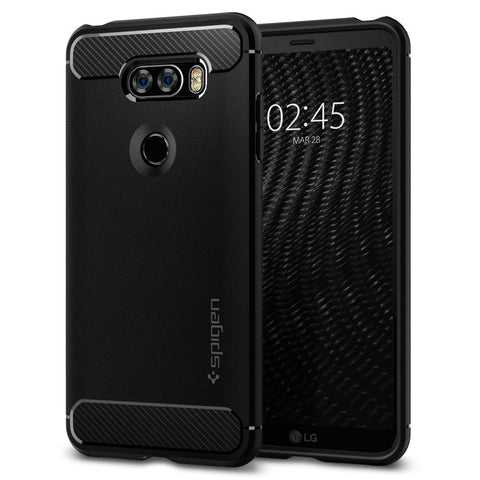 Spigen LG V30 Case Rugged Armor™ Black A25CS21979