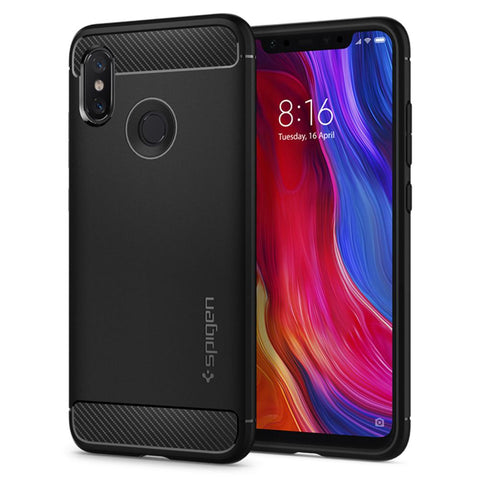 Spigen Xiaomi Mi 8 Case Rugged Armor Black S11CS23359
