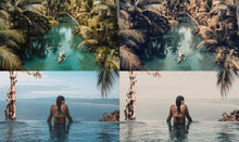 Load image into Gallery viewer, 25 Tahiti Summer LUTS Pack Photography Presets Lightroom CameraRaw Photoshop Lumafusion