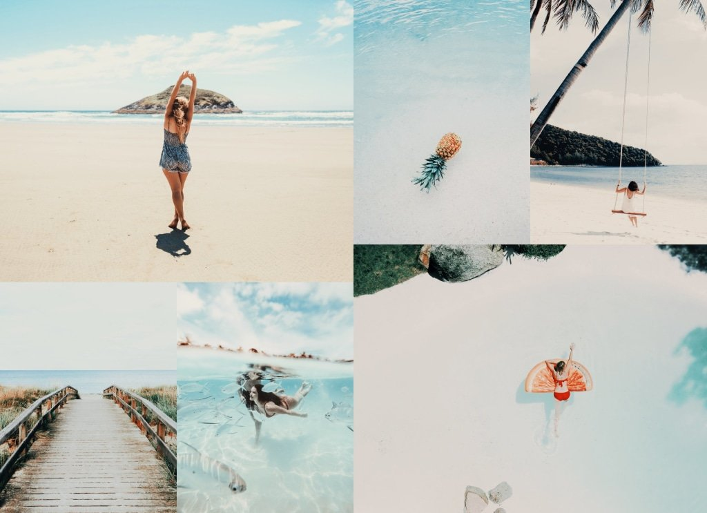 25 Tahiti Summer LUTS Pack Photography Presets Lightroom CameraRaw Photoshop Lumafusion