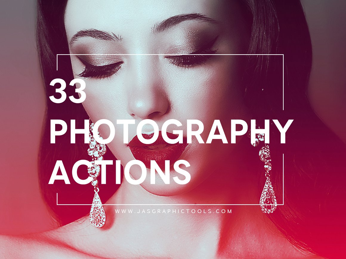 33 Photography Pro Presets Photoshop Actions Professional Photography ATN One Click Color Correction
