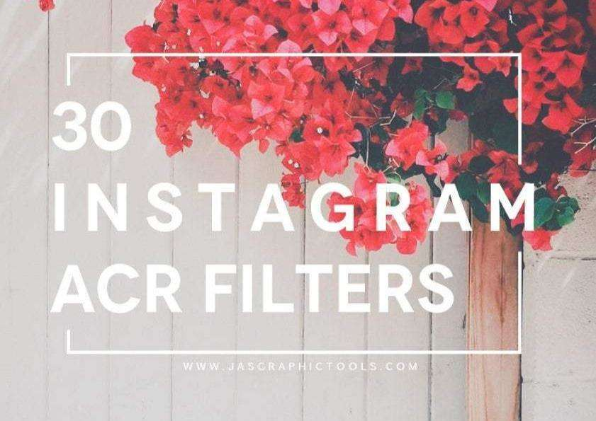 30 Instagram Camera Raw Filters Lightroom Presets Photoshop Color Correction Photography Presets
