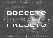 Load image into Gallery viewer, Eleganza | 74 Black & White Lightroom Presets Photoshop Lightroom CameraRaw Professional Photography B&W