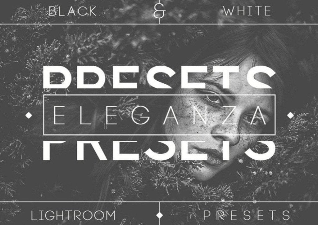 Eleganza | 74 Black & White Lightroom Presets Photoshop Lightroom CameraRaw Professional Photography B&W
