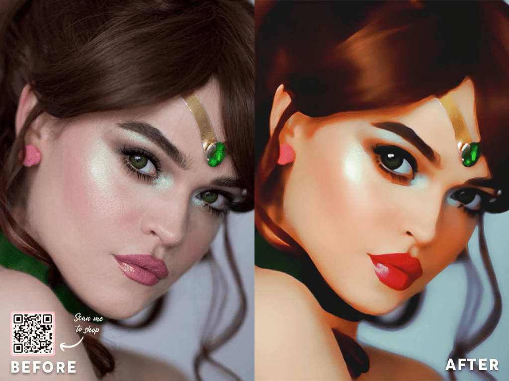 Cartoon Portrait Painting Effect Photoshop Actions Photo To Painting Realistic Digital Oil Painting Effect Turn Photos Into Paintings Easily In One Click
