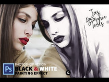 Load and play video in Gallery viewer, Black & White Oil Painting Effect Actions