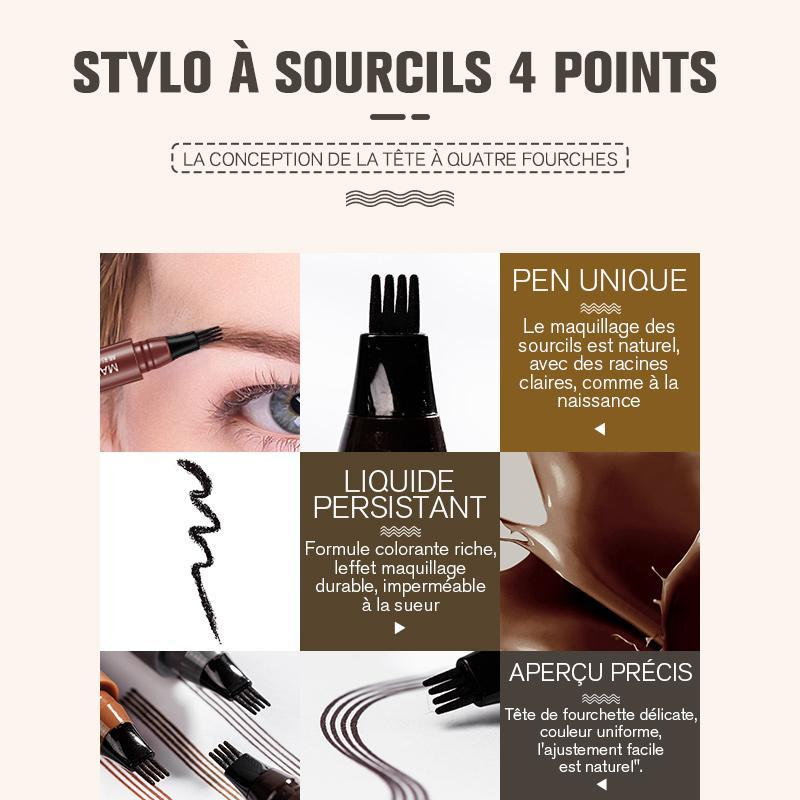 Stylo à Sourcils 4 Points-2