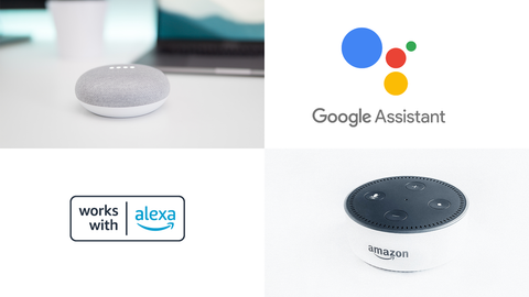 support Google Assisstant and Amazon Alexa
