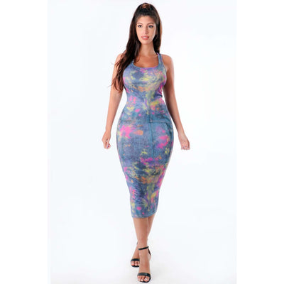 Drip Midi Dress - Nothing To Wear LLC
