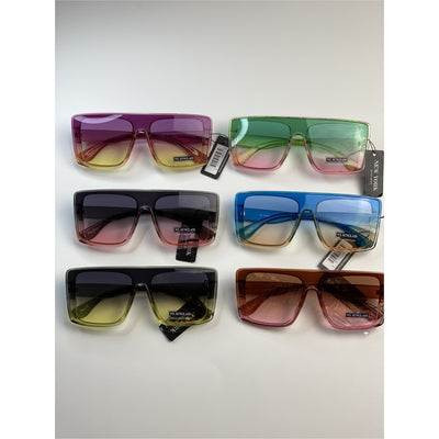 Multi-Color Square Sunglasses - Nothing To Wear LLC