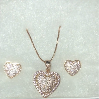 Heart Necklace Set - Nothing To Wear LLC