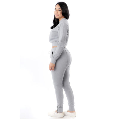 Casual Solid Tracksuit - Nothing To Wear LLC