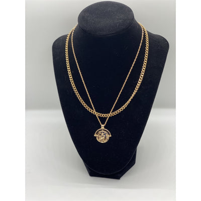 Two-Tier Coin Necklace - Nothing To Wear LLC