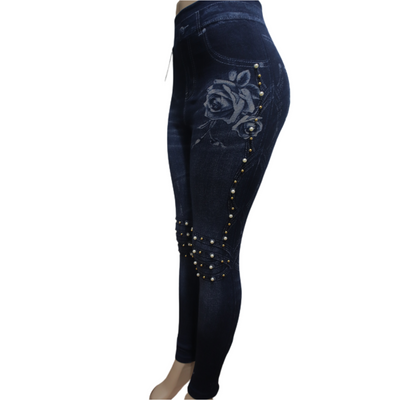 Pearl Rose Leggings - Nothing To Wear LLC