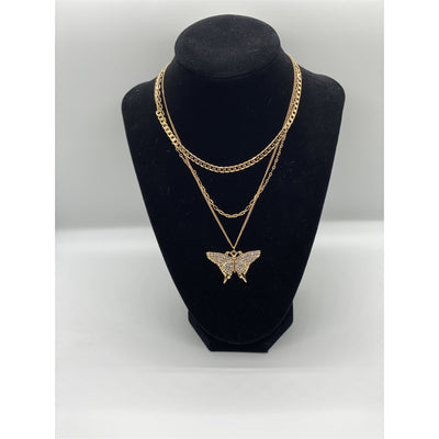 Multi-chain Butterfly Necklace - Nothing To Wear LLC