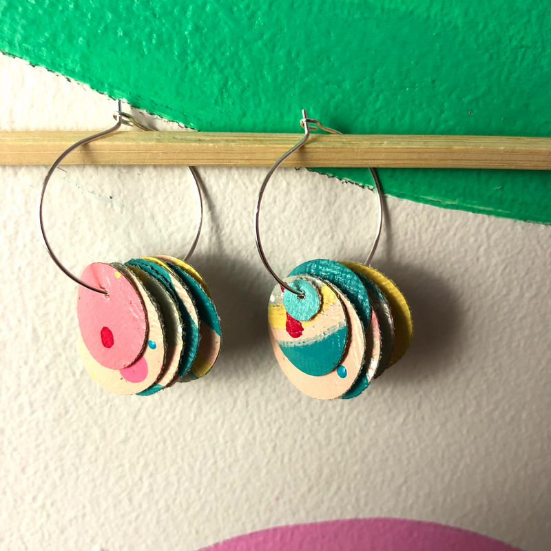 Sea Change Earrings (5) - Louise Russell Art