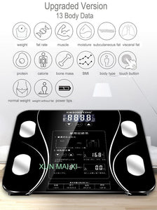 13 Body Index Electronic Weighing Scale | gymgiantgear
