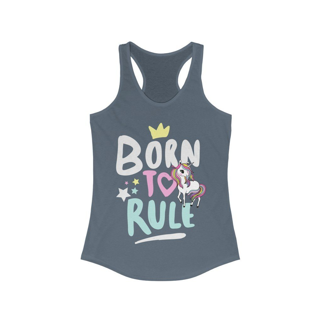 Born to Rule Unicorn Racerback Tank Top | gymgiantgear