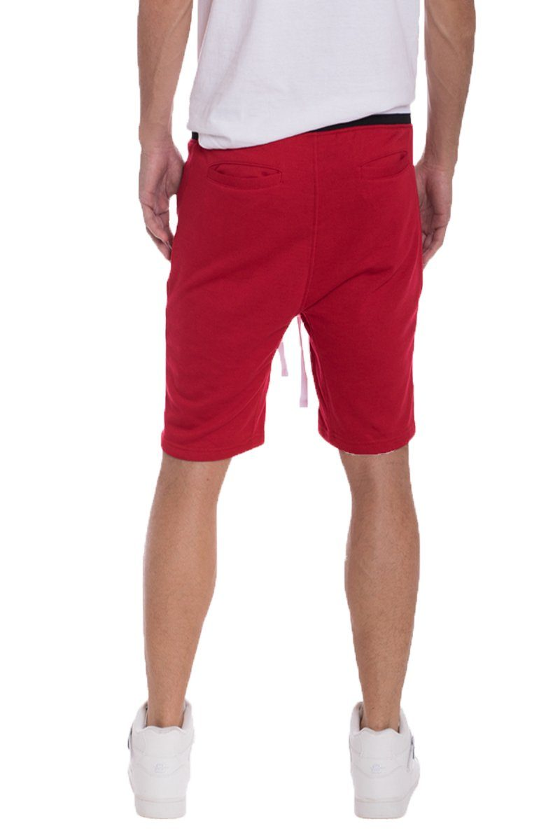 BRANDON FRENCH TERRY SHORTS- RED | gymgiantgear