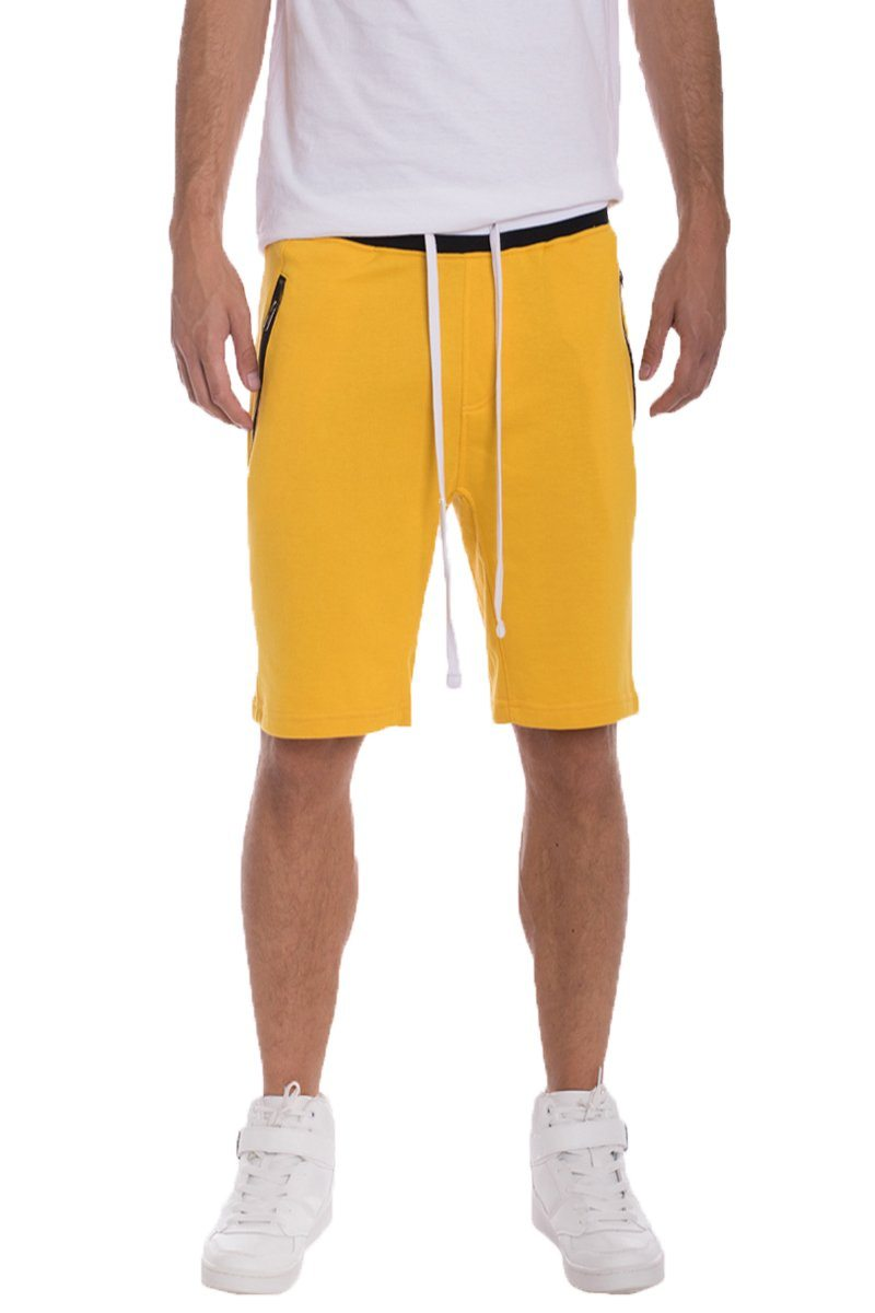 BRANDON FRENCH TERRY SHORTS- YELLOW | gymgiantgear