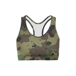 Load image into Gallery viewer, Dark Green Camo Sports Bra | gymgiantgear