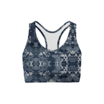 Load image into Gallery viewer, Digital Blue Camo Back Color Sports Bra | gymgiantgear