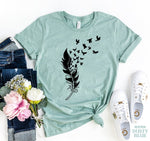 Load image into Gallery viewer, Feather Bird T-shirt | gymgiantgear