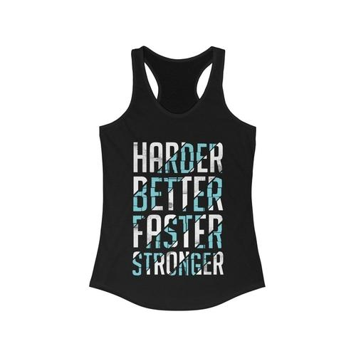 Harder Better Faster Stronger Racerback Tank Top | gymgiantgear