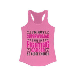 I am not Superwoman but I Fighting Breast Cancer Racerback Tank Top | gymgiantgear