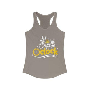 It's Coffee O'clock Racerback Tank Top | gymgiantgear