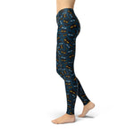 Load image into Gallery viewer, Jean Halloween Cat Eyes Leggings | gymgiantgear