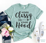 Load image into Gallery viewer, Kinds Classy Kinda Hood T-shirt | gymgiantgear