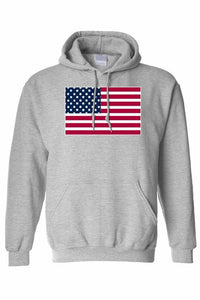 Men's/Unisex Pullover Hoodie United States of America Flag Pride | gymgiantgear