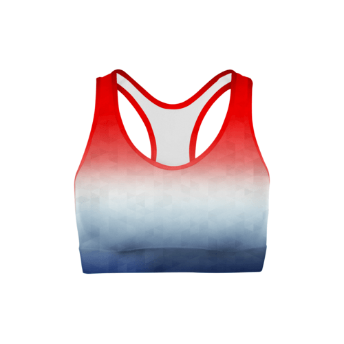 Patriotic Triangles Sports Bra | gymgiantgear