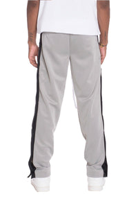 SNAP BUTTON TRACK PANTS- GREY | gymgiantgear