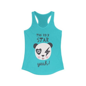 The PANDA Rock Star Racerback Tank Top | gymgiantgear